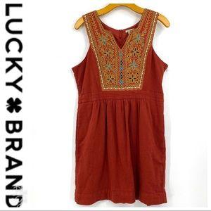 💕SALE💕 Lucky Brand Coral Sleeveless Dress